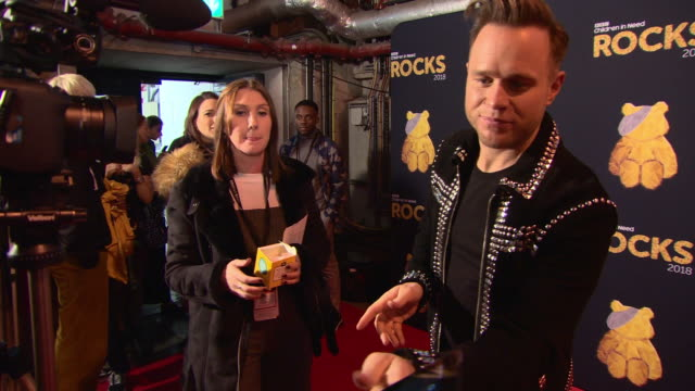vidéos et rushes de olly murs at bbc children in need rocks - charity concert on november 7, 2018 in london, england. - bbc children in need