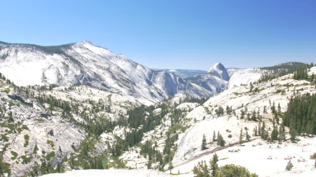 olmstead point, yosemite national park - snowcapped mountain stock videos and b-roll footage