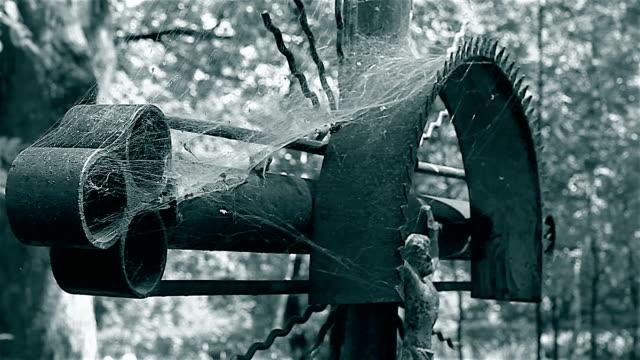 Ols metal cross and cobweb