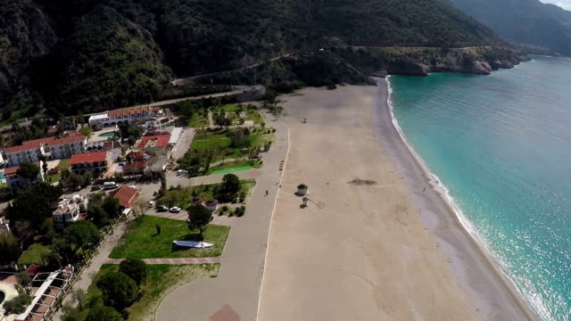 oludeniz. aerial video - fethiye stock videos and b-roll footage