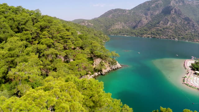 oludeniz - aerial video - fethiye stock videos and b-roll footage