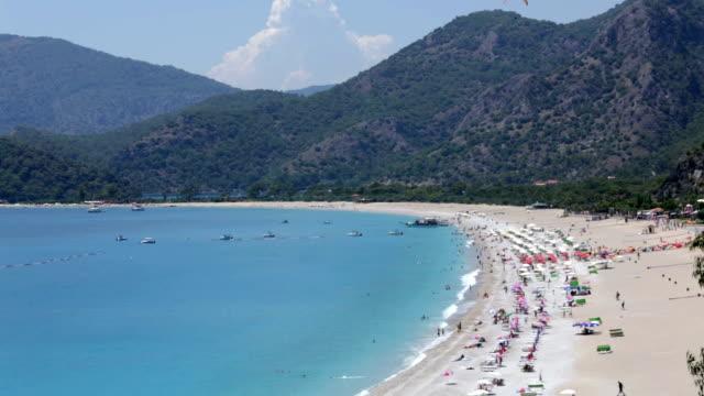 oludeniz beach, fethiye, turkey - ölüdeniz stock videos and b-roll footage
