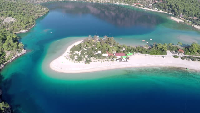 oludeniz form fethiye - aerial video - fethiye stock videos and b-roll footage