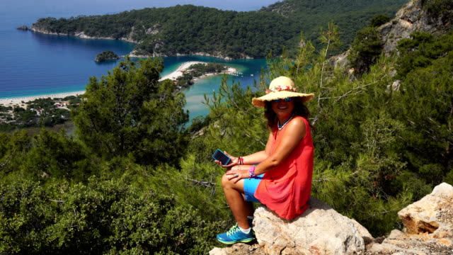 oludeniz from fethiye, turkey. - only mature women stock videos and b-roll footage