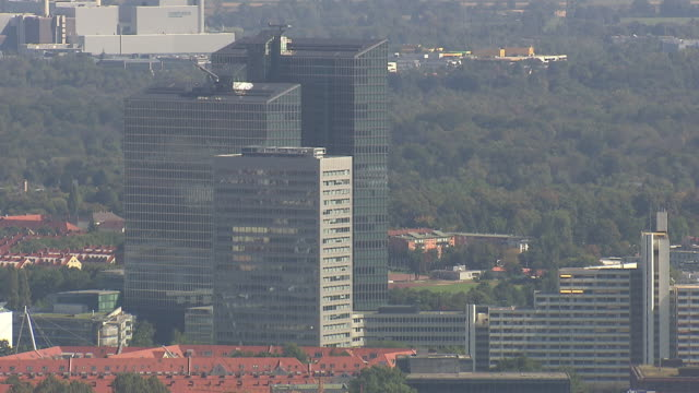 Olympiapark, Highlight Tower, roofs, Munich from above