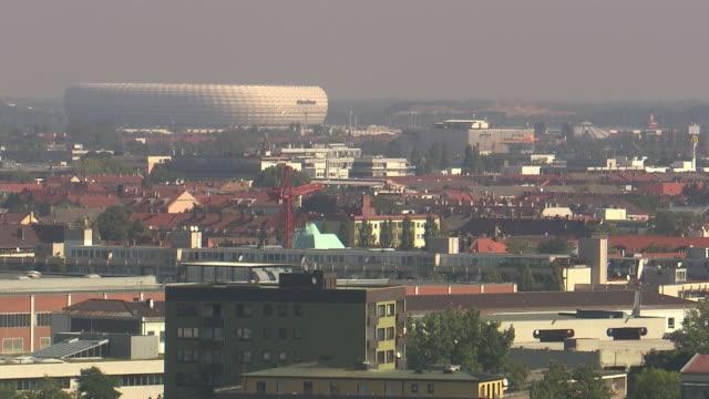 Olympiapark, Munich Skyline, Allianz-Areana in background