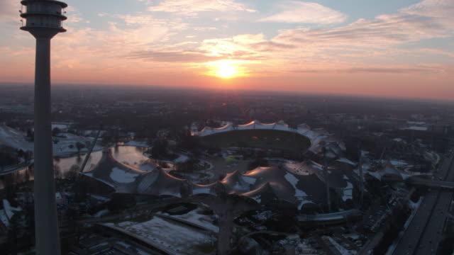 Olympiapark, Olympiastadion, München, Winter