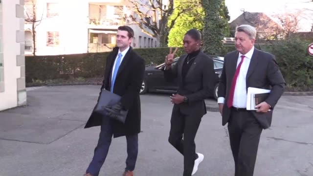 olympic 800 metres champion caster semenya of south africa arrives at the court of arbitration for sport to challenge proposed rules that would force... - caster semenya stock videos & royalty-free footage