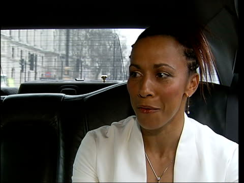 Olympic athlete kelly holmes receives damehood int holmes showing off a diamond ring pam thomson sitting