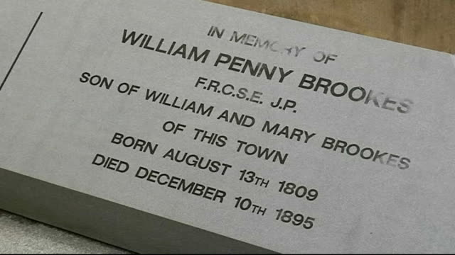 much wenlock local woman interview sot william penny brookes grave field where first olympian society staged their games archers practising young... - will.i.am stock videos & royalty-free footage