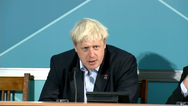 olympic legacy: government faces questions about sports funding; london: westminster: boris johnson press conference sot - i would like to see... - no doubt band stock videos & royalty-free footage