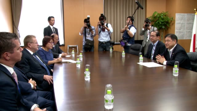 olympic minister toshiaki endo said tuesday he cannot guarantee the new national stadium will be delivered by january 2020 as requested by the... - push in stock videos & royalty-free footage