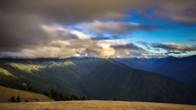 olympic national park landscape - time lapse - olympic national park stock videos and b-roll footage
