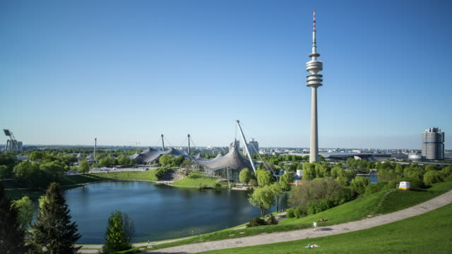 Olympic Park Munich - time-lapse - moving camera