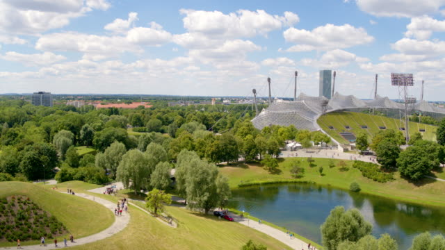 olympic park, munich - munich stock videos & royalty-free footage
