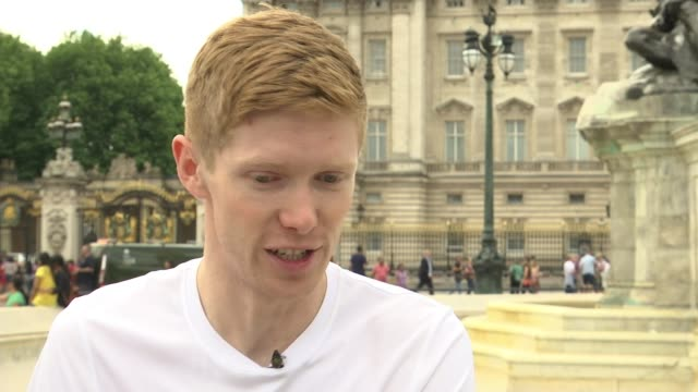 olympic race walker tom bosworth trains for world athletics championships tom bosworth interview sot - itv london lunchtime news stock-videos und b-roll-filmmaterial