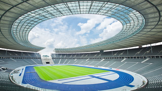 olympic stadium / berlin, germany - pitch stock videos & royalty-free footage