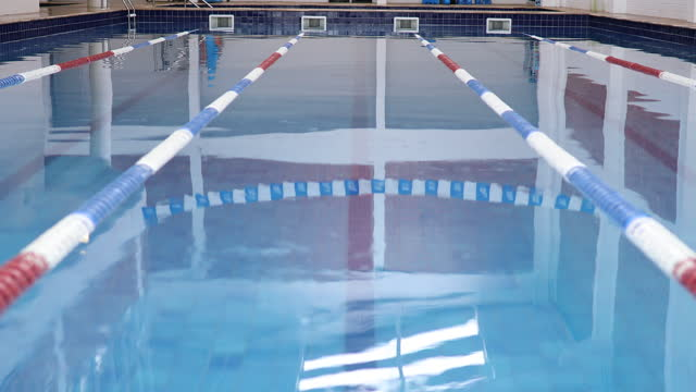 olympic swimming pool - indoors stock videos & royalty-free footage