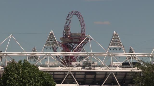 olympic village olympic london general views on july 21 2012 in london england - ロンドン ストラトフォード点の映像素材/bロール