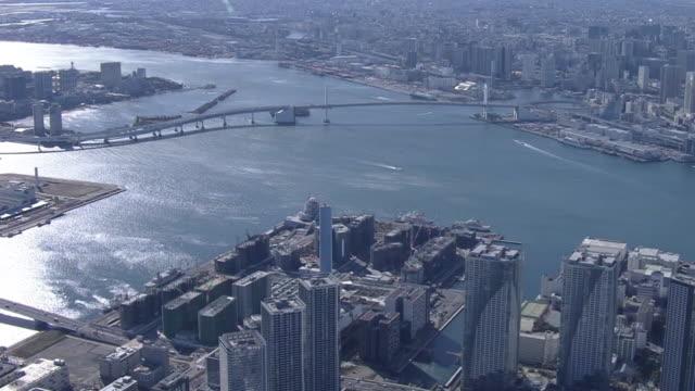 aerial, olympic village u/c, tokyo, japan - minato ward stock videos & royalty-free footage