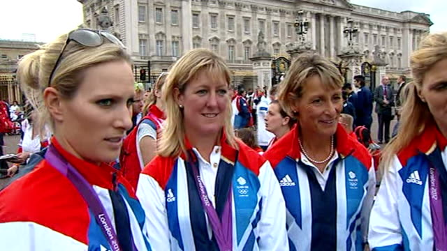 Olympics and Paralympics Athletes' Parade 2012 Atheletes interview Zara Phillips try to get back to our normal schedule Cook horses get a holiday now...