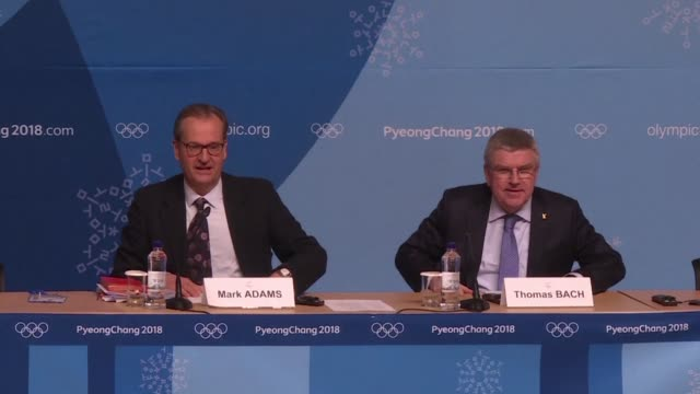 olympics chief thomas bach called for reforms to the court of arbitration for sport on sunday as he slammed its extremely disappointing decision to... - winter sports event stock videos and b-roll footage
