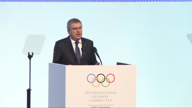olympics chief thomas bach on monday said the pyeongchang winter games have brought real hope to the divided korean peninsula and added there was no... - südkorea stock-videos und b-roll-filmmaterial