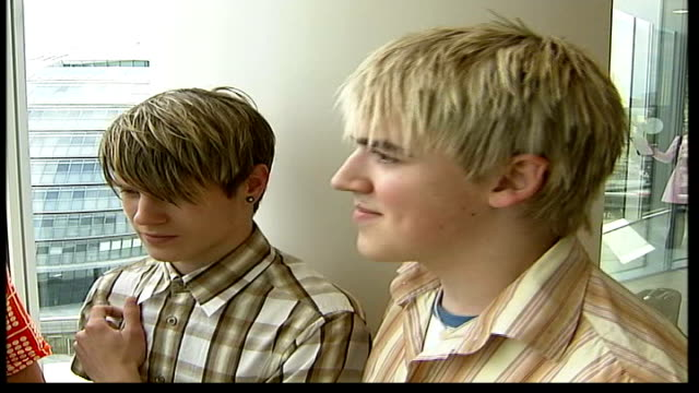 free concert itn england london int mcfly interview sot never thought about performing in front of that many people / we'll get to play live emma... - 2004 stock videos and b-roll footage