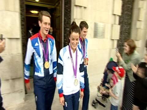 Olympics triathlon gold and bronze medal winning brothers Alistair and Jonathan Brownlee and cycling road race silver medalist Lizzie Armitstead...