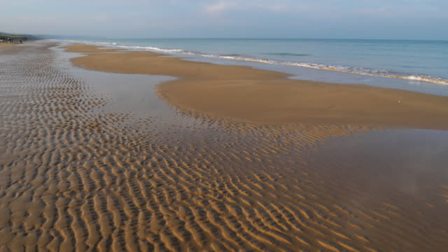 omaha beach, the beach near colleville sur mer, normandy,calvados, france. - d day stock videos and b-roll footage