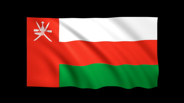 oman flag loopable alpha included - stock video - oman flag stock videos and b-roll footage