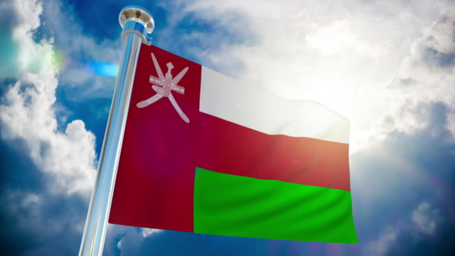 4k - oman flag | loopable stock video - oman flag stock videos and b-roll footage