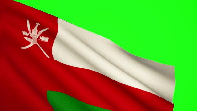 oman flag luma matte - oman flag stock videos and b-roll footage