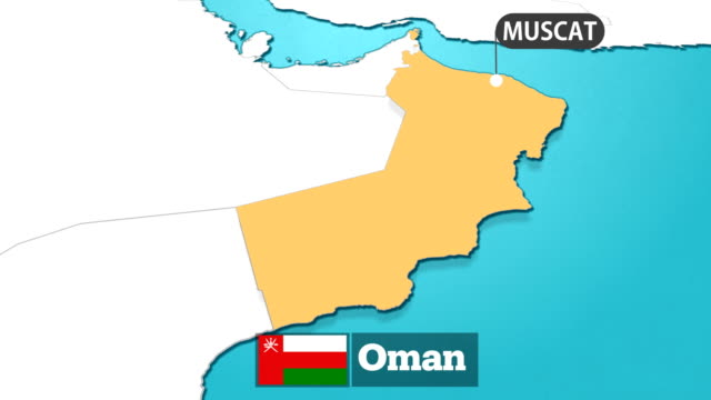 oman map with flag - oman flag stock videos and b-roll footage
