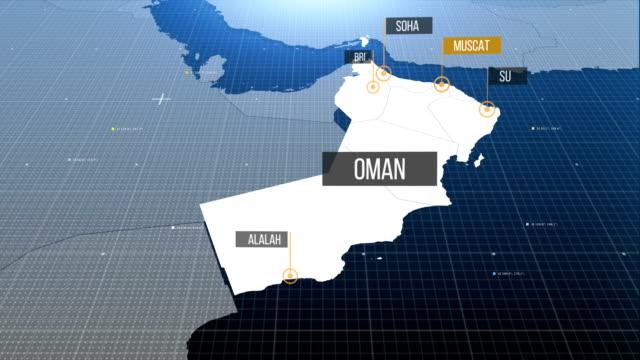 Oman Karte mit Etikett dann mit Etikett