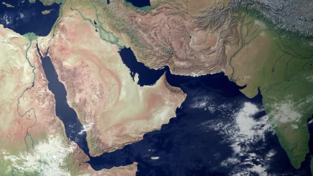 Oman poppt nach Erde zoom (mit alpha-matte)