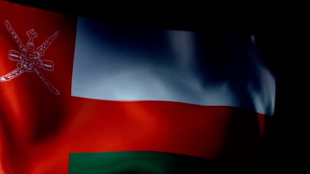 omani flag flapping - oman flag stock videos and b-roll footage