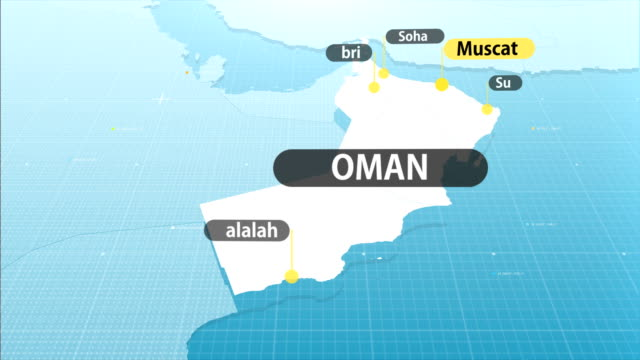 omani map - oman flag stock videos and b-roll footage