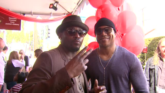 omar epps ll cool j at the john varvatos 8th annual stuart house benefit at los angeles ca - ll cool j stock videos and b-roll footage