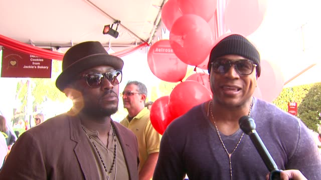 omar epps ll cool j on the event and clothing at the john varvatos 8th annual stuart house benefit at los angeles ca - ll cool j stock videos and b-roll footage