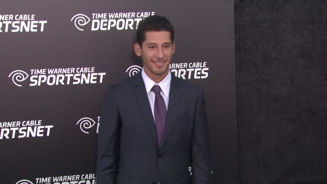 omar gonzalez at time warner sports celebrates launch of time warner cable sportsnet and time warner cable deportes networks on 10/1/2012 in el... - el segundo stock videos & royalty-free footage