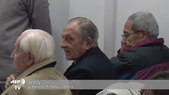 omar graffigna exjefe de la fuerza aerea en la dictadura argentina y otros dos acusados estan siendo juzgados por la desaparicion en 1978 de la hija... - hija stock videos & royalty-free footage