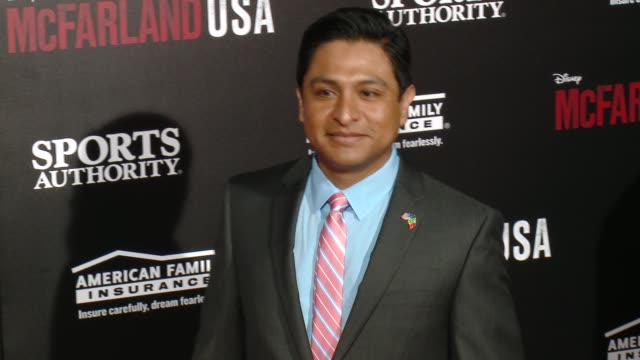 "omar leyva at the ""mcfarland, usa"" los angeles premiere at the el capitan theatre on february 09, 2015 in hollywood, california. - el capitan theatre stock videos & royalty-free footage"