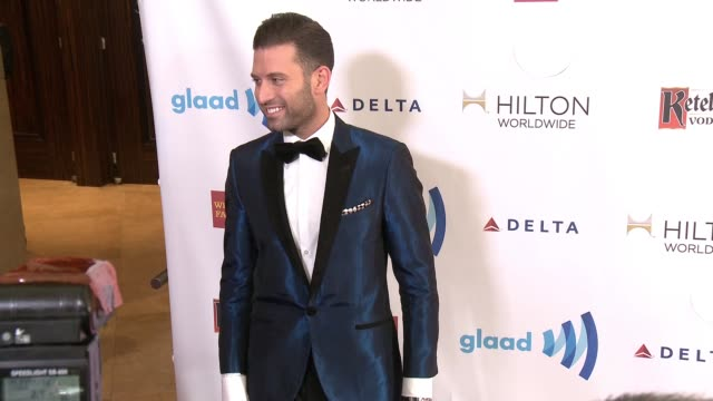 omar sharif jr at the 25th annual glaad media awards at the beverly hilton hotel on april 12 2014 in beverly hills california - omar sharif jr stock-videos und b-roll-filmmaterial