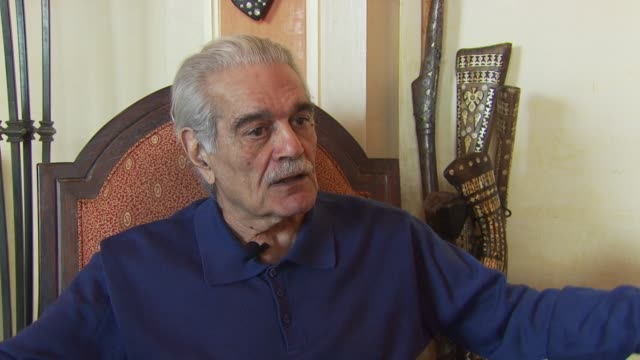 omar sharif on having never stopped working on the great luck coming into his life from him becoming fat being sent to england because it had the... - falling in love stock videos & royalty-free footage