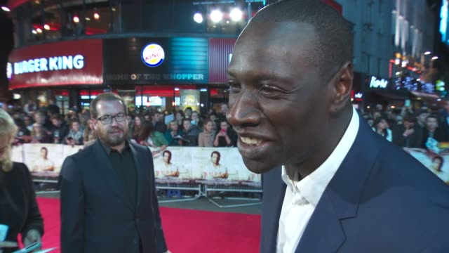 interview omar sy on a better cook now learning how to be a better cook at 'burnt' uk film premiere on october 28 2015 in london england - film premiere stock videos & royalty-free footage