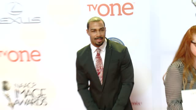 stockvideo's en b-roll-footage met omari hardwick at the 46th annual naacp image awards arrivals at pasadena civic auditorium on february 06 2015 in pasadena california - pasadena civic auditorium