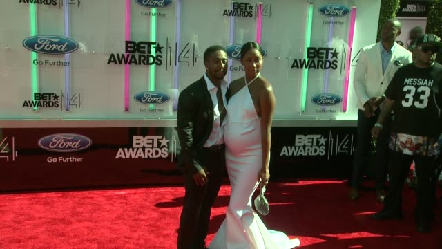 Omarion and Apryl Jones at the 2014 BET Awards on June 29 2014 in Los Angeles California