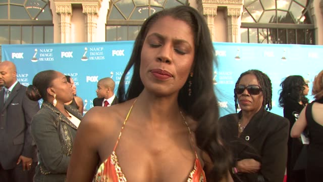 omarosa maginaultstallworth on the event celebrating diversity and her second time on 'the apprentice' at the 39th annual naacp image awards at the... - omarosa manigault newman stock videos & royalty-free footage