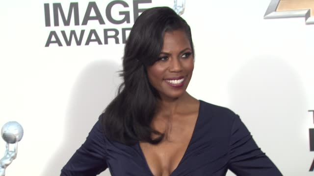 omarosa manigault at 44th naacp image awards arrivals on 2/1/13 in los angeles ca - omarosa manigault newman stock videos & royalty-free footage